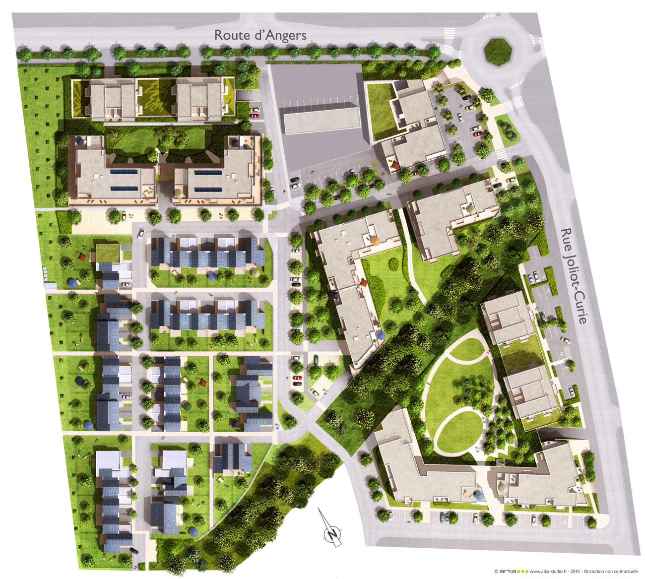 Saint barth lemy d 39 anjou infoplus les actus constructions - Plan de masse maison individuelle ...